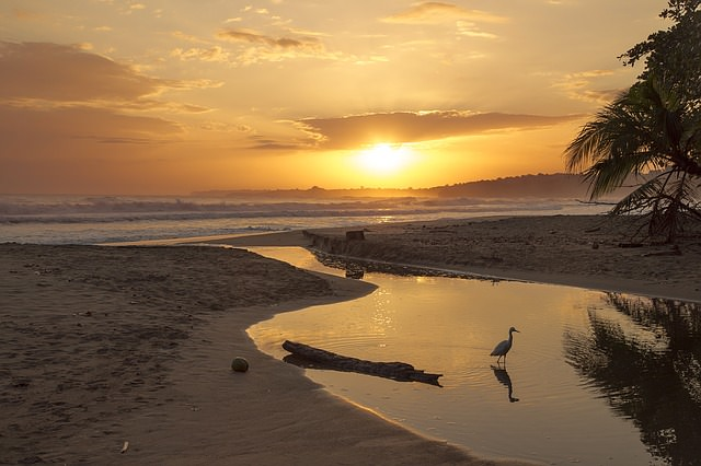 Backpacking in Costa Rica - Sonnenuntergang