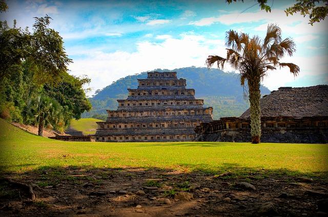 Backpacking in Mexiko - Maya Pyramide