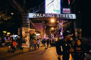 Das öffentliche treiben auf der Walking Street