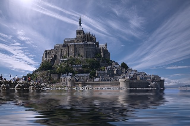 Backpacking in Frankreich - Mont saint Michel