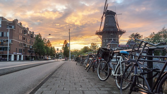 Backpacking in Holland - Sonnenuntergang