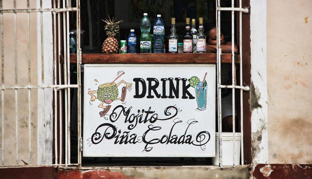 Backpacking auf Kuba - Getränke im Angebot
