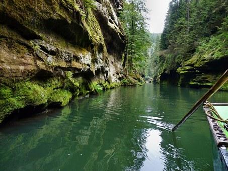 Landschaft Sandsteinfelsen Tschechien