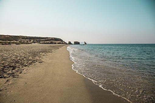 Verlassene Strände in Griechenland