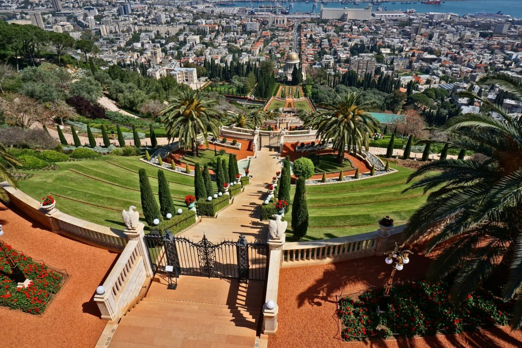 Backpacking Israel - Hängende Gärten der Bahai