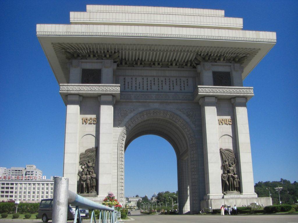 Backpacking Nordkorea - Triumphbogen