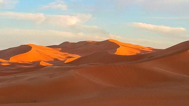 Sanddünen in der Wüste Marokkos