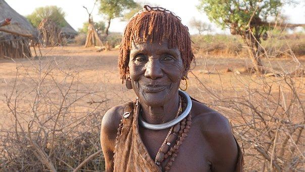 Natives in Ethiopia - Omo-Tal