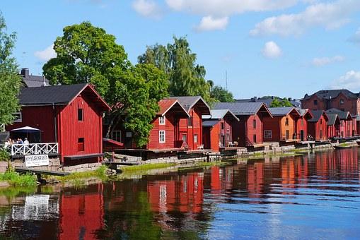 Holzhäuser in Finnland