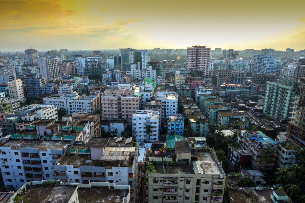 Backpacking in Bangladesch - Häuser in Dhaka