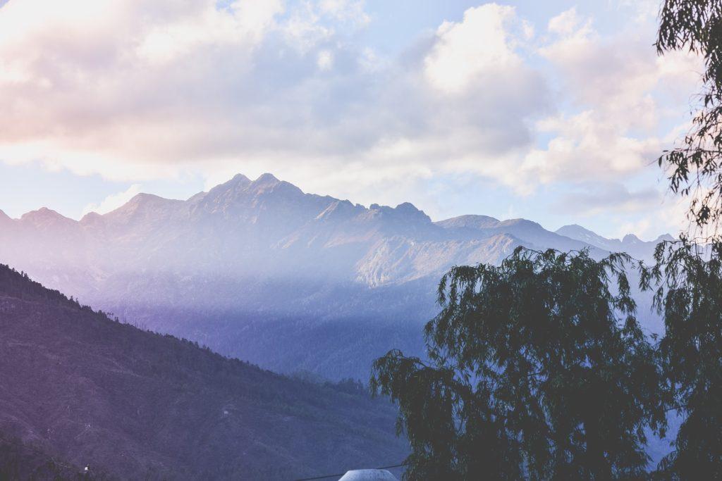 Backpacking in Bhutan - Landschaft
