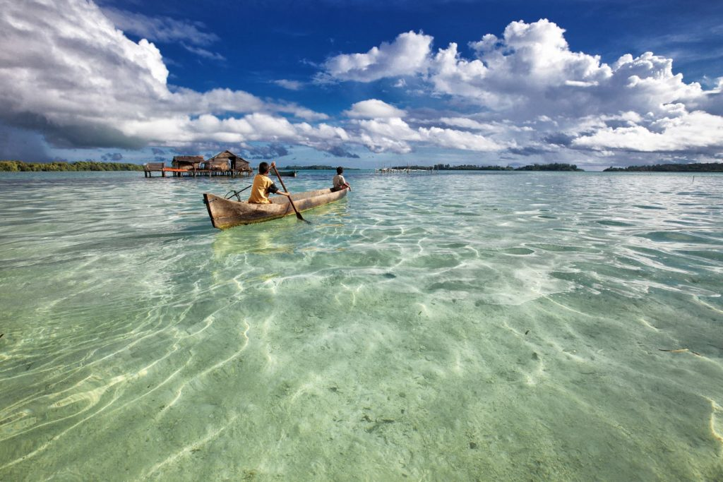 Backpacking in Papua-Neuguinea - Lagune